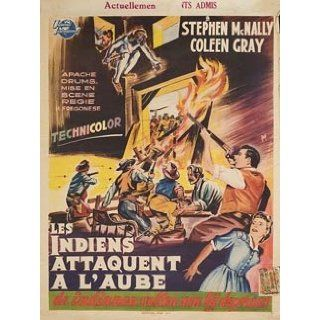 Apache Drums 1951 Original Belgium Poster Hugo Fregonese Stephen McNally: Stephen McNally, Coleen Gray, Willard Parker, Arthur Shields: Entertainment Collectibles