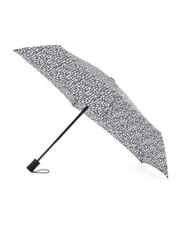 Mosaic Print Folding Umbrella, Black/White