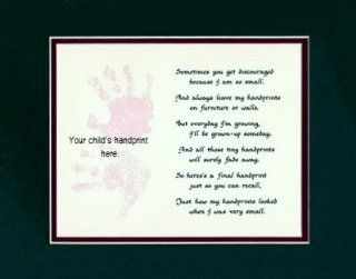 Personalized Child Handprint Mat Wall Decor Picture Saying Poem   Home Decor Accents