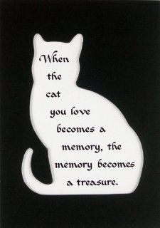 Cat Memory Treasure Memorial Wall Decor Poem Pet Saying Bereavement Sign   Decorative Plaques