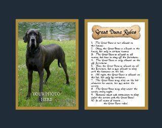 Dog Rules Great Dane Wall Decor Pet Saying Dog Saying   Decorative Plaques
