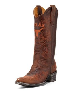University of Texas Tall Gameday Boots, Brass   Gameday Boot Company   Brass