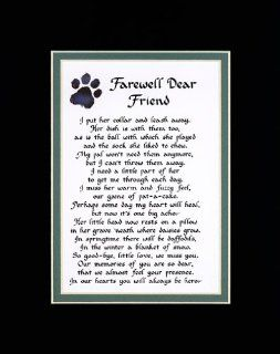 Farewell Dear Friend Female Dog Memorial Wall Decor Poem Pet Saying Bereavement Sign   Decorative Plaques
