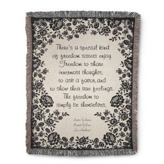 Personalized, Embroidered Sisters Saying Throw Blanket