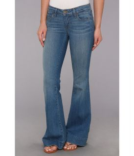 Paige Petite Fiona Flare in Harrison Womens Jeans (Blue)