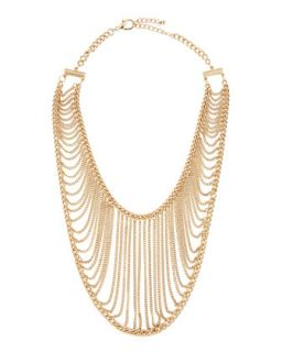 Golden Chain Net Necklace   Chamak by Priya Kakkar   Gold