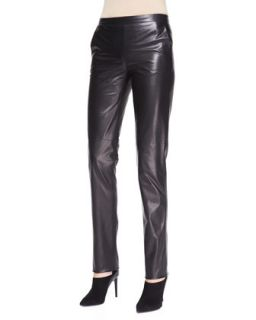 Womens Skinny Leather Pants, Black   Bottega Veneta   Black (42/6)