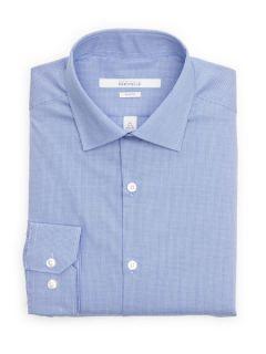 Perry Ellis Mens Slim Fit Micro Check Dress Shirt