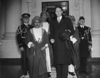 1938 photo The Sultan of Muscat & Oman Wayyid Said Bin Taimur Bin Faisal, at a6