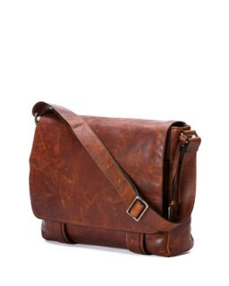 Logan Mens Messenger Bag, Antique Cognac   Frye   Cognac