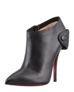 Huguette Leather Ankle Boot, Black   Christian Louboutin   Black (36.0B/6.0B)