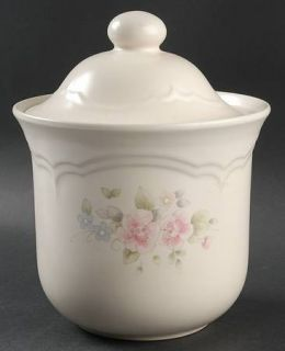 Pfaltzgraff Tea Rose Medium Canister, Fine China Dinnerware   Stoneware,Pink Ros