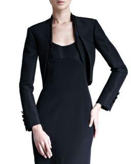 Womens Silk Faille Bolero Jacket   Carolina Herrera   Black (10)
