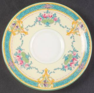 Royal Worcester Melba (Cream Background) Saucer for Footed Cup, Fine China Dinne