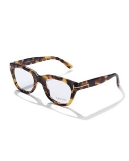 Mens Large Havana Fashion Glasses, Tortoise   Tom Ford   Tortoise (LARGE )