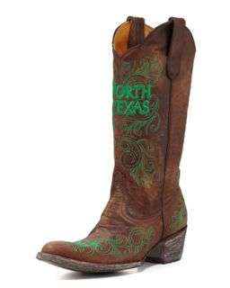 University of North Texas Tall Gameday Boots, Brass   Gameday Boot Company