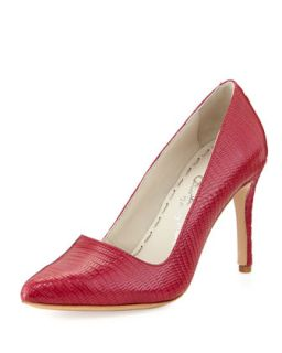 Dina Lizard Embossed Pump, Hot Pink   Alice + Olivia   Hot pink (37.5B/7.5B)