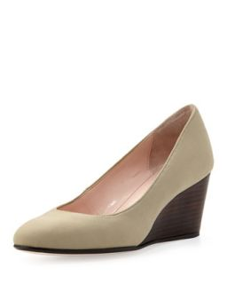 Kathleen Sateen Wedge, Beige   Taryn Rose