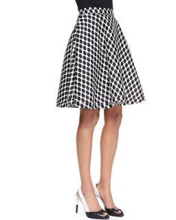 Amelia Mikado Diamond Print Skirt   Diane von Furstenberg