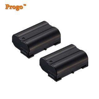 Progo Professional EN EL15 Rechargeable Li Ion Battery for Nikon EN EL15 and Nikon 1 (One) V1, D600, D800, D800E, D7000 D7100 DSLR Cameras, Fully Compatible! Use Same as OEM. 2 Pack. : Bullet Cameras : Camera & Photo