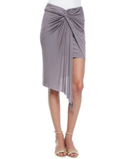 Womens Kulani Ombre Jersey Draped Skirt   Young Fabulous and Broke   Grey