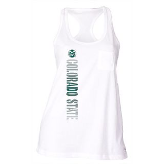 SOFFE Womens Colorado State Rams Pocket Racerback Tank Top   Size: XS/Extra