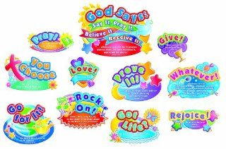 Carson Dellosa Christian God Says Bulletin Board Set (210008) : Themed Classroom Displays And Decoration : Office Products