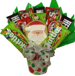 Delight Expressions™ Santa SaysHoliday Candy Bouquet for Kids   A Christmas Gift Basket Idea : Gourmet Candy Gifts : Grocery & Gourmet Food