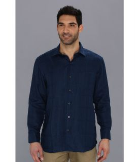 Tommy Bahama TB Monte Carlo L/S Shirt Mens Long Sleeve Button Up (Navy)