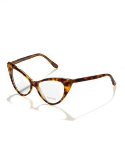 Cat Eye Fashion Glasses, Light Havana   Tom Ford   Shiny lt havana