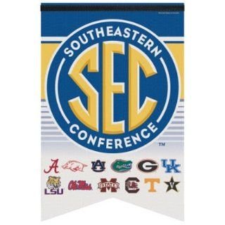 "SEC CONFERENCE OFFICIAL 26"" FELT BANNER : Sports Related Collectibles : Sports & Outdoors"