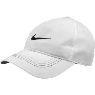 NIKE Mens Contrast Stitch Golf Cap, White/white