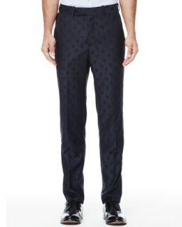 Mens Tonal Skull Jacquard Trouser, Blue   Alexander McQueen   Blue (34/50)