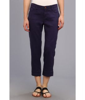 Christopher Blue Chloe Crop Monaco Linen Womens Casual Pants (Blue)
