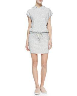 Womens Jersey Sleeveless Hooded Dress   Pam & Gela   Heather cream (SMALL)