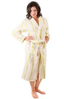 Del Rossa Women's Water Absorbant 14 oz Fleece Shawl Collar Bathrobe Robe at  Women�s Clothing store: