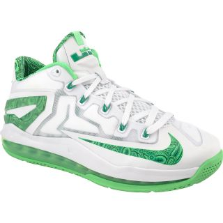 NIKE Mens Air Max LeBron XI Low Basketball Shoes   Size: 8.5, White/green