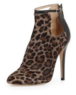 Luther Leopard Print Cutout Calf Hair Bootie   Jimmy Choo   Paloma/Black (41.