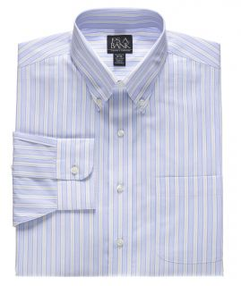 Traveler Stripe Point Collar Dress Shirt Big or tall by JoS. A. Bank Mens Dress