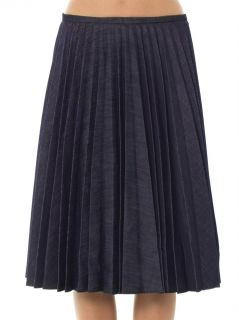 Pleated denim skirt  J.W. Anderson