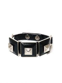 Square pyramid leather bracelet  Toga Pulla
