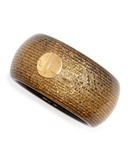 Golden Bangle with Woven Finish   Lanvin   Gold