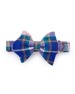 Plaid Baby Bow Tie, Blue   Blue plaid