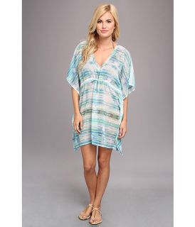 Echo Design Colorful Kaleidoscope Silky Cover Up Green