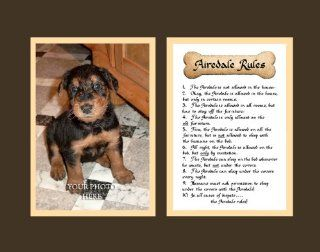 Dog Rules Airedale Wall Decor Pet Saying Dog Saying   Decorative Plaques