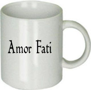 Amor Fati (Love of Fate) Classic Latin Saying. Ceramic Coffee Cup  Mugs
