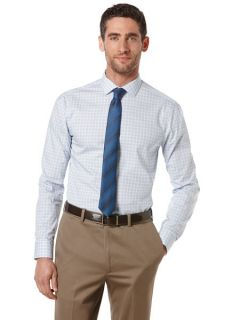 Perry Ellis Mens Very Slim Check Dress Shirt