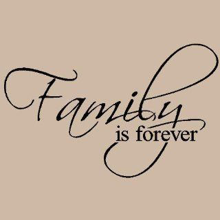Family Is Forever vinyl lettering wall art saying home decor   Home Decor Accents