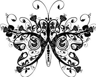 BUTTERFLY Inspirational Nursery Love Family Vinyl Wall Art Vinyl Wall Art Saying Quote Decal Graphics Matte Black   Wall Decor Stickers