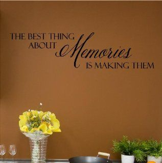 The Best Thing About Memories Is Making Them (M) Wall Saying Vinyl Lettering Home Decor Decal Stickers Quotes   Vinyl Wall Art About Memories